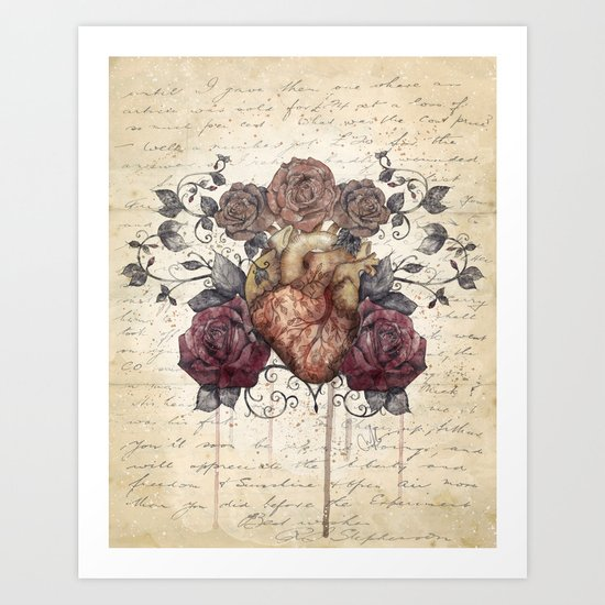 Flowers from my heart Art Print