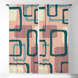 Mid Century Modern Abstract Squares Pattern 445 Blackout Curtain