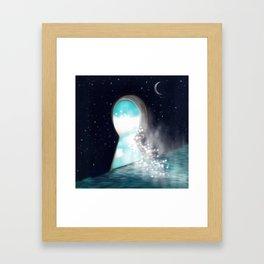 Keyhole Mystery Framed Art Print