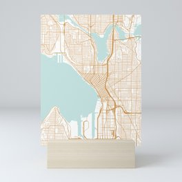 Seattle map Mini Art Print