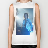 harry styles Biker Tanks featuring Harry Styles by Halle