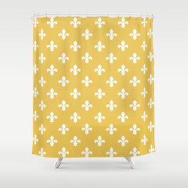 Honey Southern Cottage Fleur de Lys Shower Curtain