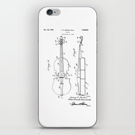 patent art Brown et al Violin 1930 iPhone Skin