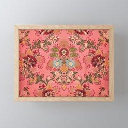 Pink Baroque Decoration vintage illustration pattern Framed Mini Art Print