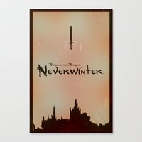dungeons and dragons Canvas Prints featuring Dungeons and Dragons: Neverwinter Fan Artwork by Thomas Mackintosh