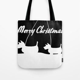 Westie White Christmas Tote Bag