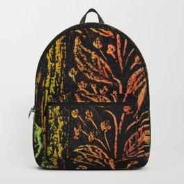 leaf red-green patern Backpack