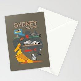 Sydney Australia Poster Version II Stationery Cards