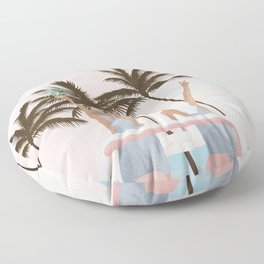 Beach Spring Break Floor Pillow