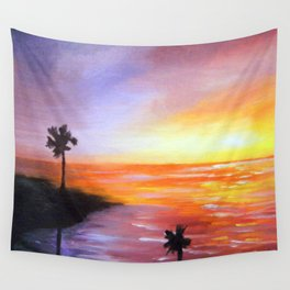 Beach Sunset Wall Tapestry