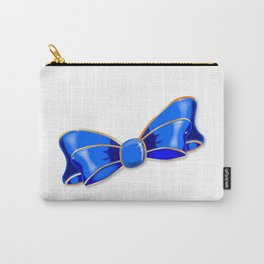 Blue Silk Bow Carry-All Pouch