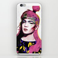 grimes iPhone & iPod Skins featuring Grimes by Zaneta Antosik