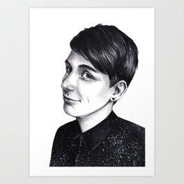 Dan Howell in space shirt Art Print