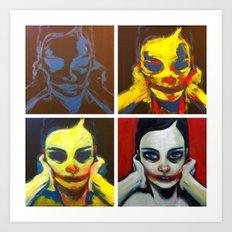 Process 01 (smile, darn ya, smile) Art Print