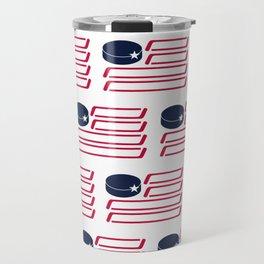 USA Hockey Flag Travel Mug