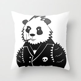 Punk Panda Throw Pillow