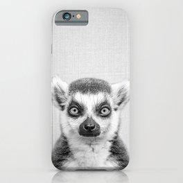 Lemur 2 - Black & White iPhone Case