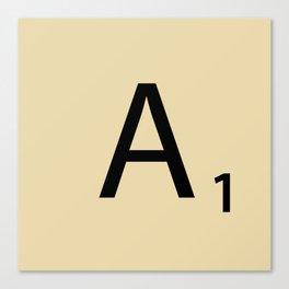 Scrabble Piece A1 Canvas Print