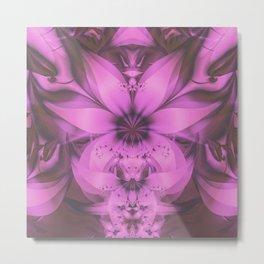 Pretty in Pink Fractal Flower Star-Shaped Petunias Metal Print