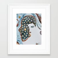 samsung Framed Art Prints featuring Iphone5/5S Samsung Galaxy by Mona Mansour Jandali