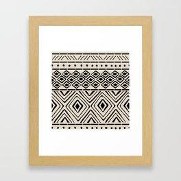 African Mud Cloth // Bone Framed Art Print