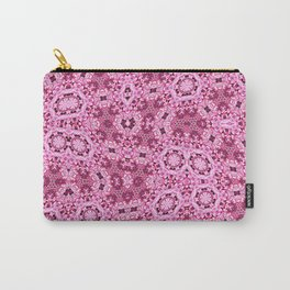 Pink Flower Quilt Ribbon Carry-All Pouch