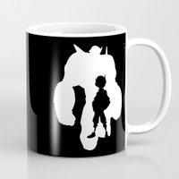 big hero 6 Mugs featuring Big Hero 6 Silhouette by Travis Love