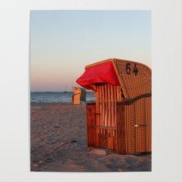 Strandkorb Poster