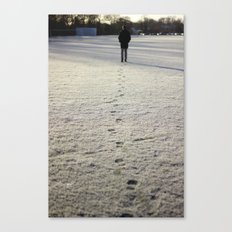 Trace in Snow Canvas Print