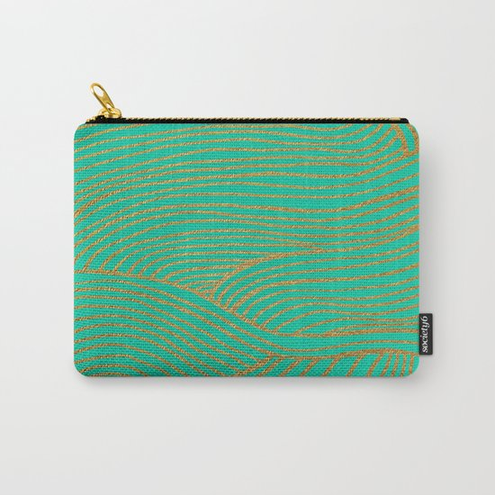 Wind Gold Turquoise Carry-All Pouch