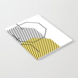Geometric - Hexagon, Black & Yellow Notebook