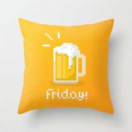 Pixel Friday Throw Pillow
