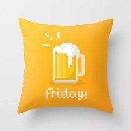 Pixel Friday Throw Pillow