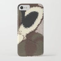 racoon iPhone & iPod Cases featuring Raino Racoon by René Barth