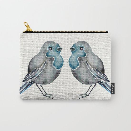 Little Blue Birds Carry-All Pouch