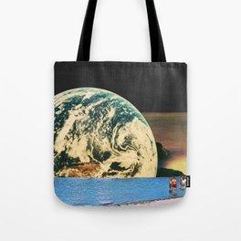 Distant beach Tote Bag