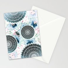 BLOOM MANDALAS IN BLUE Stationery Cards