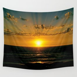 sunset at the beach Wall Tapestry