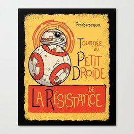 Tournee du Petit Droide Canvas Print