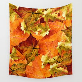 Fallen Autumn Leaves Wall Tapestry