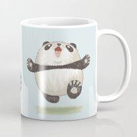 panda Mugs featuring Panda by Toru Sanogawa