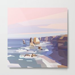 Geometric Great Ocean Road Metal Print