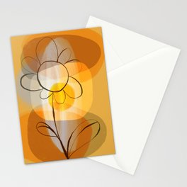 Abstract flower Stationery Cards