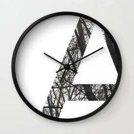 Minimal Letter A Print With Photography Background Wall Clock