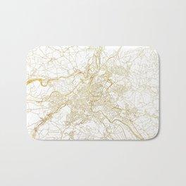 Bern Map Gold Bath Mat