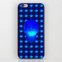 Blue Crystal Skull iPhone Skin