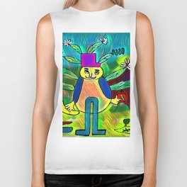 The teacher of the flowers Biker Tank