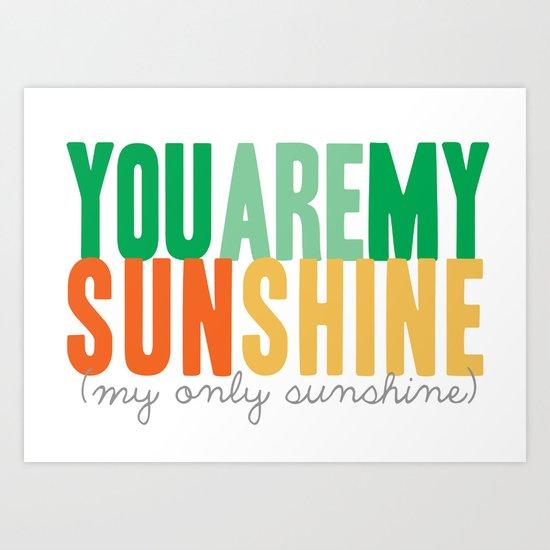{sunshine-green} Art Print