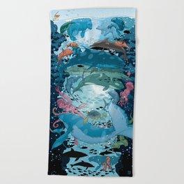 Aquatic Life Beach Towel