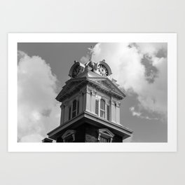 Historic Courthouse Steeple Art Print